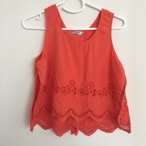 Tobi orange tank top